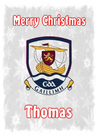Personalised Galway Crest Christmas Card